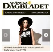 Musiker och tecknare prisas på Kulturfesten, Marianne Pernbro, Skd, 20-10-2016 http://www.skd.se/2016/10/20/musiker-och-tecknare-prisas-pa-kulturfesten/