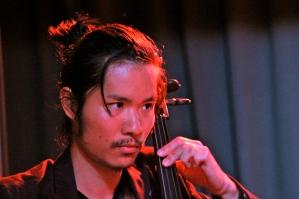 Releaseconert at Far i hatten (Malmö, SE) Ryuei Sasaki on cello