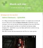 Sabina Chantouria - SpiderWeb, Musik och Mer, 13/5-14 http://www.musikochmer.com/2014/05/sabina-chantouria-spiderweb.html