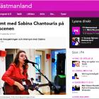 Finstämt med Sabina Chantouria på radioscenen, P4 Västmanland, 23/9-16 http://sverigesradio.se/sida/artikel.aspx?programid=112&artikel=6523527