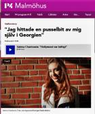 """""""Jag hittade en pusselbit av mig själv i Georgien"""", P4 Malmöhus, Sveriges Radio, 3/11-16 http://sverigesradio.se/sida/artikel.aspx?programid=96&artikel=6555229"""