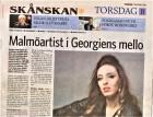 Malmöartist i Georgiens mello, Yvonne Erlandsson, Skånska Dagbladet, 15/12-16 http://www.skd.se/2016/12/15/malmoartist-i-georgiens-mello/