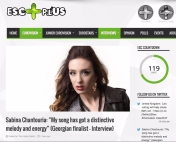 "Sabina Chantouria: ""My song has got a distinctive melody and energy"" Tony Rojas, ESCPlus, 14/1-17 https://www.esc-plus.com/sabina-chantouria-song-got-distinctive-melody-energy-georgian-finalist-interview/"