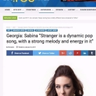 "Georgia: Sabina ""Stranger is a dynamic pop song, with a strong melody and energy in it"", Fernando Thomas, ESCYounited, 10/1-17 http://escunited.com/2017/01/10/georgia-sabina-stranger-is-a-dynamic-pop-song-with-a-strong-melody-and-energy-in-it/"