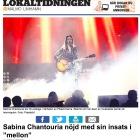"Sabina Chantouria nöjd med sin insats i ""mellon"", Per Ingridz, Lokaltidningen, 24/1-17 http://malmo.lokaltidningen.se/nyheter/2017-01-24/-Sabina-Chantouria-n%C3%B6jd-med-sin-insats-i-%E2%80%9Dmellon%E2%80%9D-341084.html"