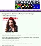 """Georgia: Sabina Chantouria officially releases """"Stranger"""", Ian Fowell, ESCCovers, 3/2-17. http://www.esccovers.com/georgia-sabina-chantouria-officially-releases-stranger/"""