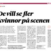 """De vill se fler kvinnor på scenen"". Hallå Malmö, Cecilia Lindberg, 12/10-2017 https://sabinachantouria.com/2017/10/12/article-in-halla-malmo-de-vill-se-fler-kvinnor-pa-scenen/"