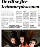 De vill se fler kvinnor på scenen https://sabinachantouria.com/2017/10/12/article-in-halla-malmo-de-vill-se-fler-kvinnor-pa-scenen/ Cecilia Lindberg, Hallå Malmö, 12/10-17