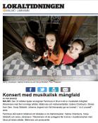 Konsert med musikalisk mångfald, Per Ingridz, Lokaltidningen, 16/10-17 http://malmo.lokaltidningen.se/2017-10-16/-Konsert-med-musikalisk-m%C3%A5ngfald-353062.html