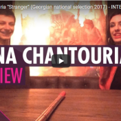 "Wiwibloggs,Sabina Chantouria is competing with the song ""Stranger"" at Georgia's national selection for Eurovision 2017. She talks about her experiences touring in Sweden and discusses the message of her song. 17/1-17 https://www.youtube.com/watch?v=3wjwhYYpbYo"