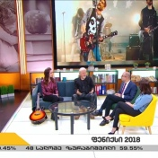 "Pirveli Arxi 1TV (Georgia) TV-show ""New Day"" 29/11-2018 https://www.facebook.com/sabinachantouria/posts/1974432572643639"