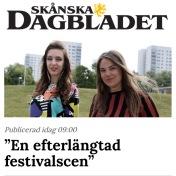 """""""En efterlängtad festivalscen"""", Skånska Dagbladet, Maria Zandihn, 7/8-2019 https://www.skd.se/2019/08/07/en-efterlangtad-festivalscen/"""
