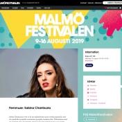 Sabina Chantouria Malmöfestivalen 2019