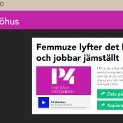 """""""Femmuze lyfter det lokala och jobbar jämställt"""" - Interview in P4 Malmöhus, 8/8-2019 https://p4dela.sverigesradio.se/?id=14268"""