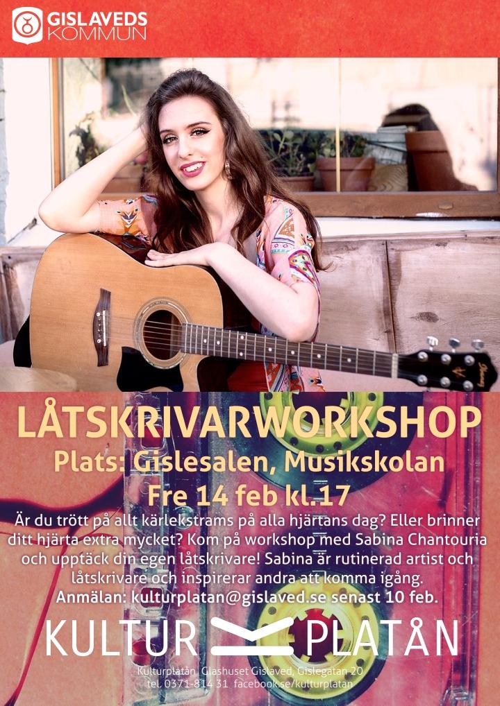 Affisch -Låtskrivarworkshop -140220