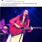 Sabina Chantouria på Malmöscenen - folk & pop från denna unga, fulländade singer/songwriter! Olle Berggren, 12/8-2019 https://www.facebook.com/olle.berggren.982/videos/10157267204096702/
